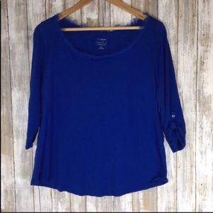 Lane Bryant Cool & Casual 3/4 Sleeve Blouse